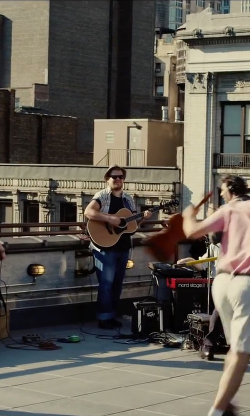 James Corden with Diesel Zatiny Bootcut Mid Wash Jeans in Begin Again