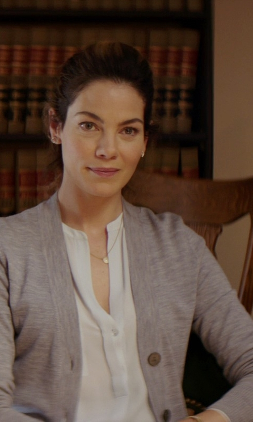 Michelle Monaghan with Tory Burch V-Neck Cardigan in The Best of Me