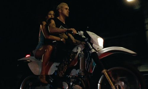 Ryan Gosling with Honda XR 650 R Dirt Bike in The Place Beyond The Pines