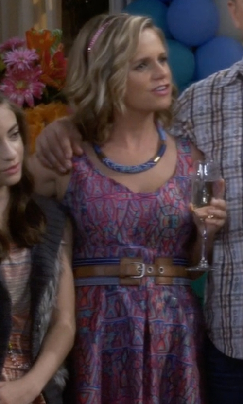 Andrea Barber with Nanette Lepore Machu Picchu Dress in Fuller House