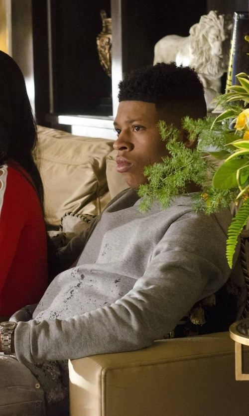 Bryshere Y. Gray with Salvatore Ferragamo Two-Tone Pattern Sweater in Empire