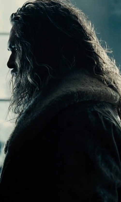 Jason Momoa with Valentino Wool Jacquard Shearling Coat in Justice League