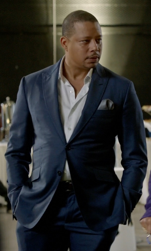 Terrence Howard  with Ermenegildo Zegna Torino Peak-Lapel Two-Piece Wool Suit in Empire