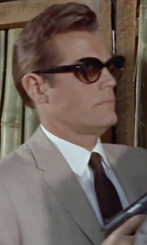 Jack Lord with Valentino Solid Satin Tie in Dr. No