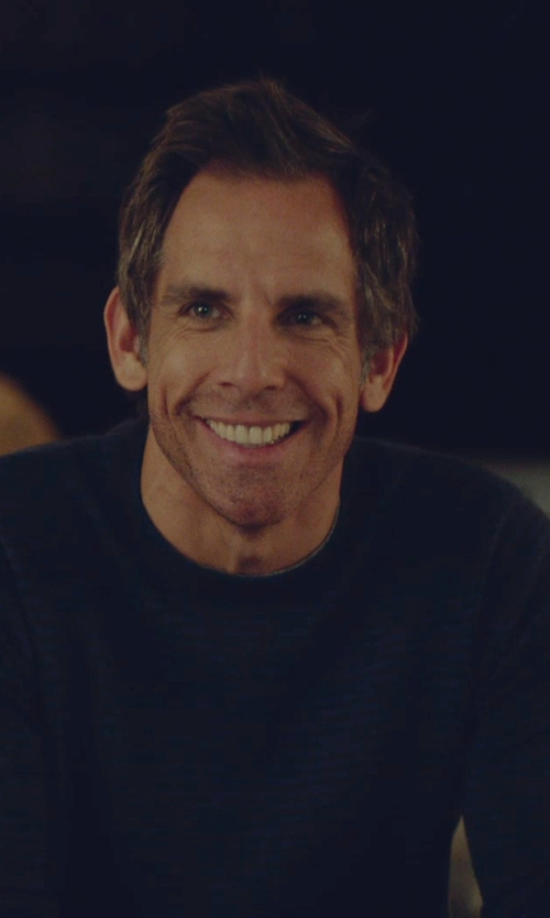 Ben Stiller with Neiman Marcus Striped Crewneck Sweater in While We're Young