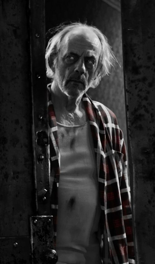 Christopher Lloyd with Lucky Brand Downdraft Plaid Western Shir in Frank Miller's Sin City: A Dame To Kill For