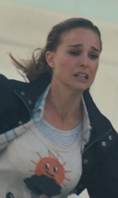 Natalie Portman with Forever 21 Striped Cotton Tank Top in Thor