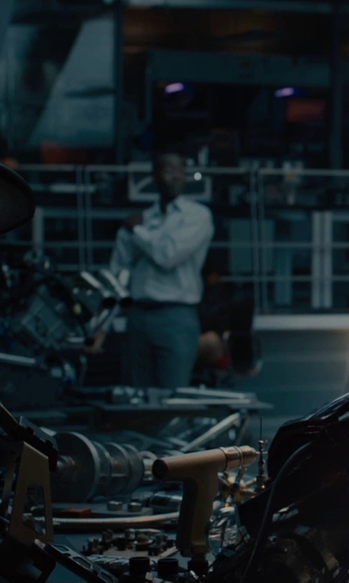 Don Cheadle with Paul Smith London Mayfair Slim-Fit Wool Suit in Avengers: Age of Ultron