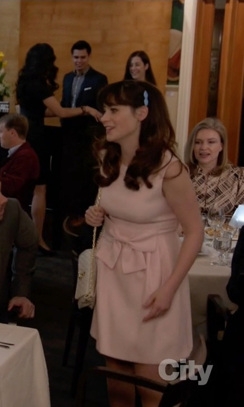 Zooey Deschanel with Rebecca Minkoff Quilted Mini Affair Cross-Body Bag in New Girl