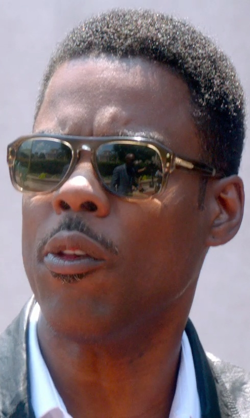 Chris Rock with Moscot Sechel Sunglasses in Straw in Top Five