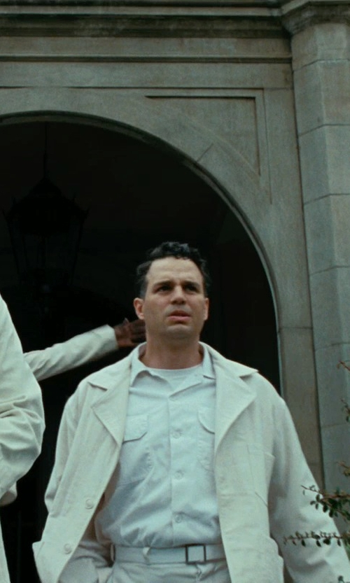 Mark Ruffalo with ATM Anthony Thomas Melillo Crew Neck Vintage Jersey T-Shirt in Shutter Island