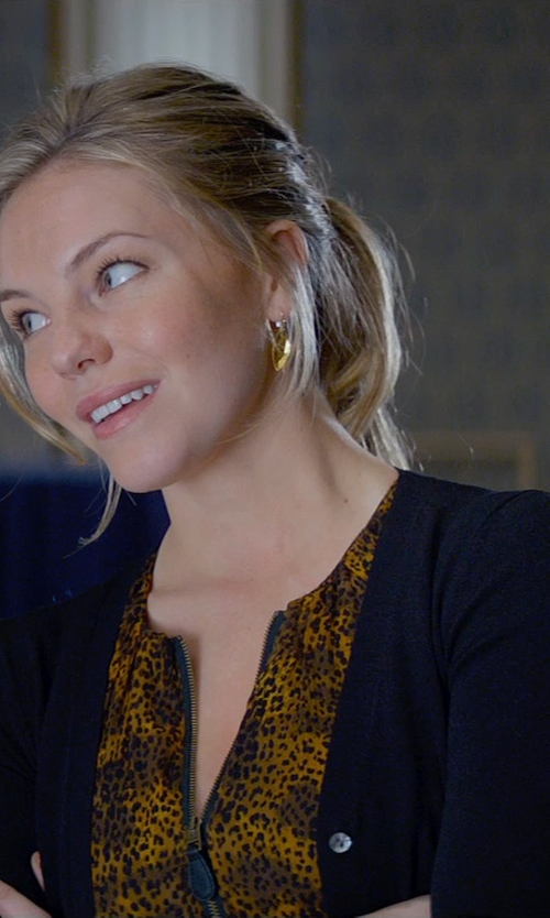 Eloise Mumford with Forever 21 Classic Ribbed Cardigan in Fifty Shades of Grey