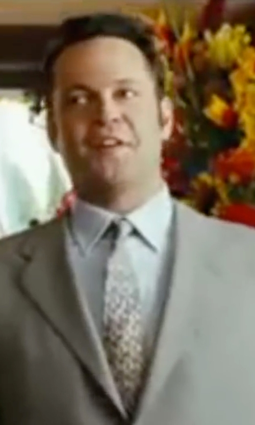Vince Vaughn with Ermenegildo Zegna Geometric Silk Tie in Wedding Crashers