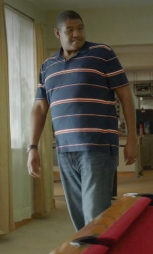 Omar Benson Miller with Notify Denim Pants in Ballers
