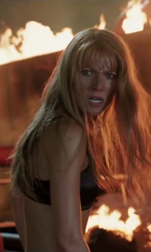 Gwyneth Paltrow with Le Mystere Energie Sports Bra 320 in Iron Man 3