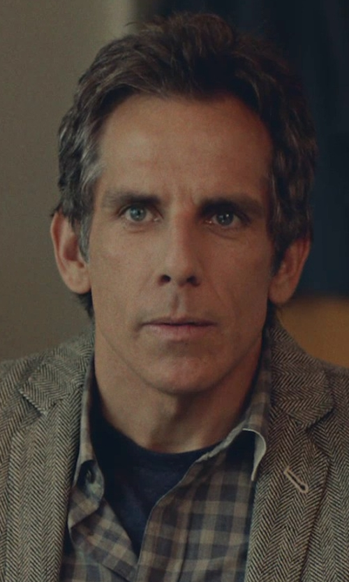 Ben Stiller with Lacoste Short-Sleeve Pima Jersey Crewneck T-shirt in While We're Young