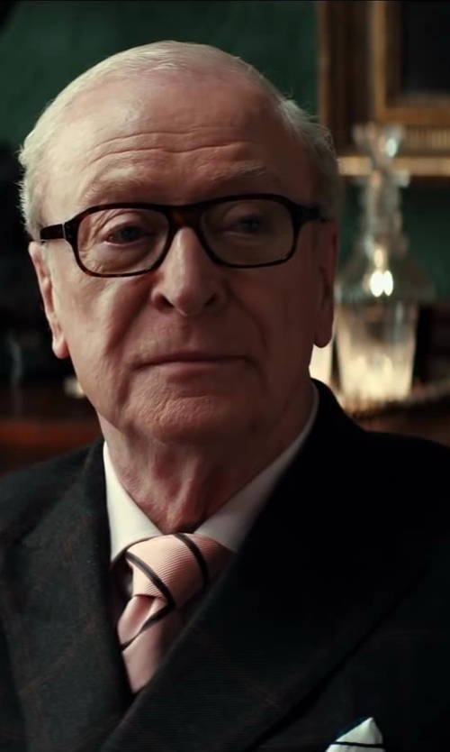 Michael Caine with Turnbull & Asser White Royal Oxford Cotton Shirt in Kingsman: The Secret Service