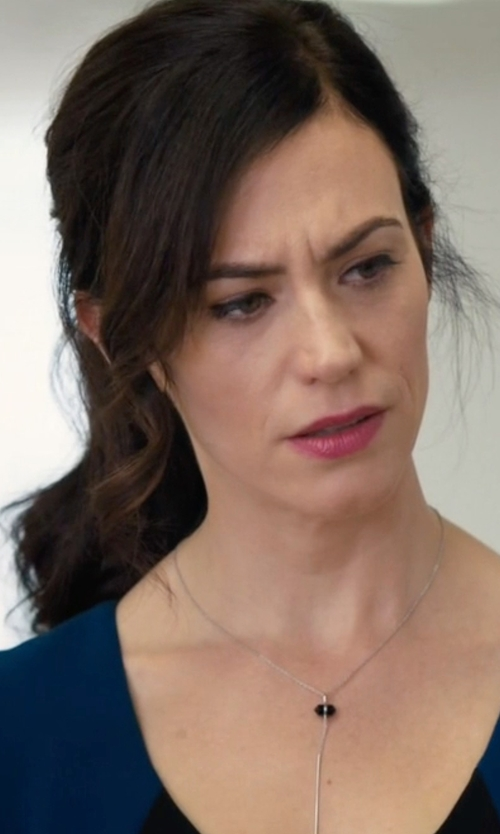 Maggie Siff with EFFY Collection Cultured Freshwater Pearl Lariat Necklace in Billions
