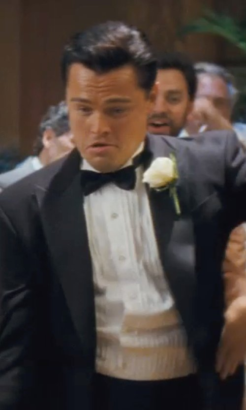 Leonardo DiCaprio with Stefano Ricci Basic French-Cuff Dress Shirt in The Wolf of Wall Street