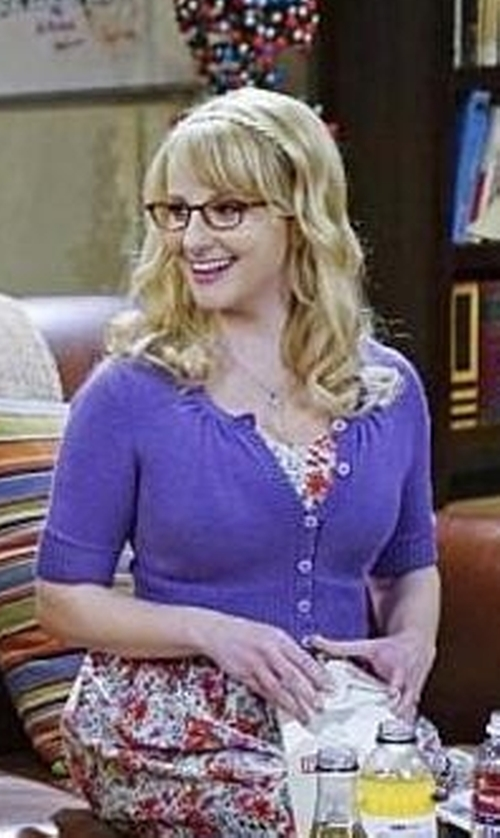 Melissa Rauch with Mod Cloth Charter School Cardigan in The Big Bang Theory
