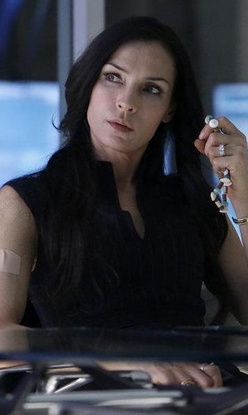 Famke Janssen with Reiss Elia Tailored Dress in The Blacklist