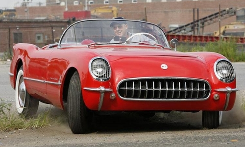 James Spader with Chevrolet 1954 Chevrolet Corvette Convertible in The Blacklist