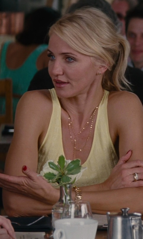 Cameron Diaz with Lana Jewelry Blake Lariat Necklace in The Other Woman