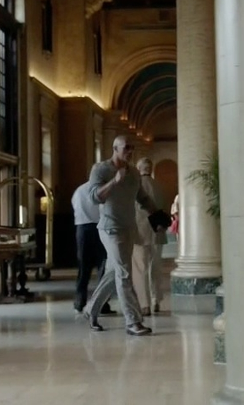 Dwayne Johnson with Ecco Windsor Tie Oxford Shoes in Ballers
