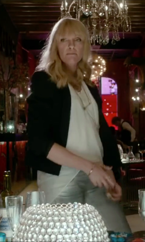 Toni Collette with J.Crew Linen Regent Blazer in Miss You Already