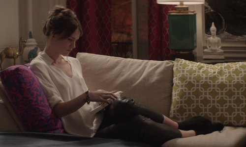 Mackenzie Davis with Wolford Velvet 66 Socks in That Awkward Moment