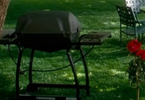 Unknown Actor with Char-Griller Grillin' Pro Gas Grill in Crazy, Stupid, Love.