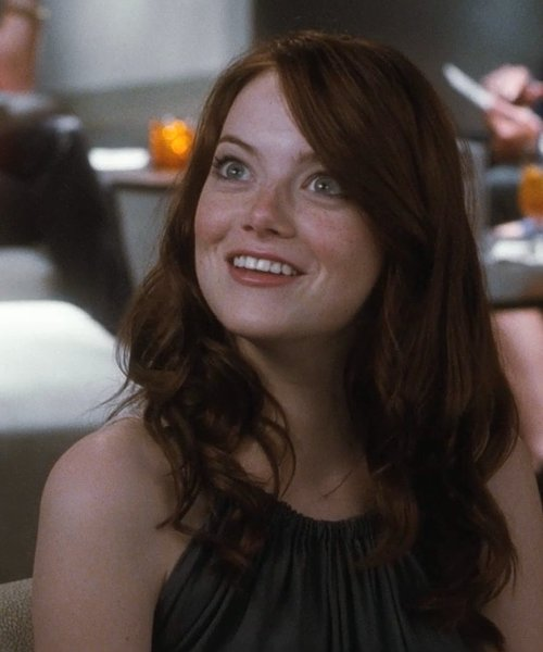 Emma Stone with L'Agence Backless Halter Dress in Crazy, Stupid, Love.
