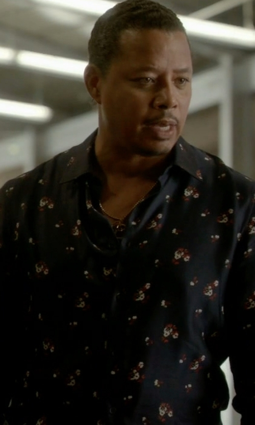 Terrence Howard  with Paul Smith Peach Intarsia Slim-Fit Dress Shirt in Empire