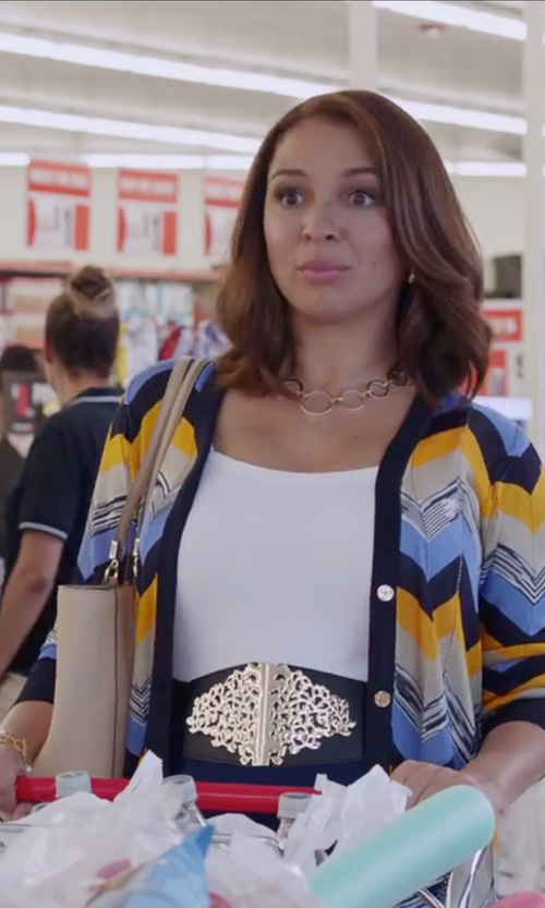 Maya Rudolph with Blingkicks Lion Queen Of The Jungle Stretch Belt in Sisters
