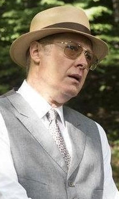 James Spader with Kiton Paisley Printed Silk Tie in The Blacklist