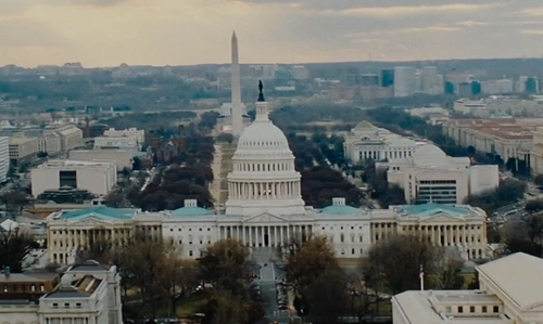 Unknown Actor with United States Capitol Washington, D.C in The Accountant