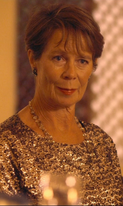 Celia Imrie with Matthew Williamson Opulent Jewelled Cluster Earrings in The Second Best Exotic Marigold Hotel