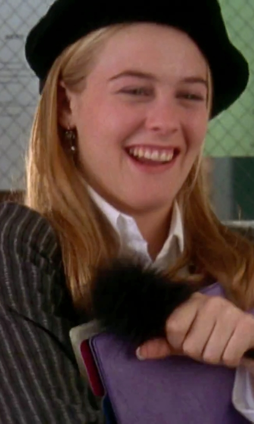 Alicia Silverstone with Nadri Sparkling Faux Pearl Earrings in Clueless