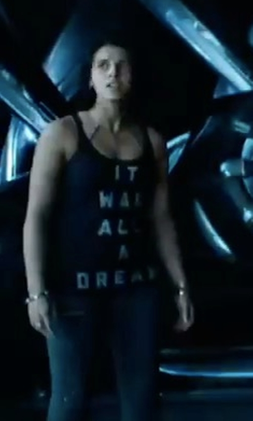 Naomi Scott with Playful Banterer 'It Was All A Dream' Tank Top in Power Rangers