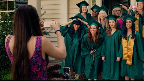 Hailee Steinfeld with Maeve Multicolor Amapola Dress in Pitch Perfect 2
