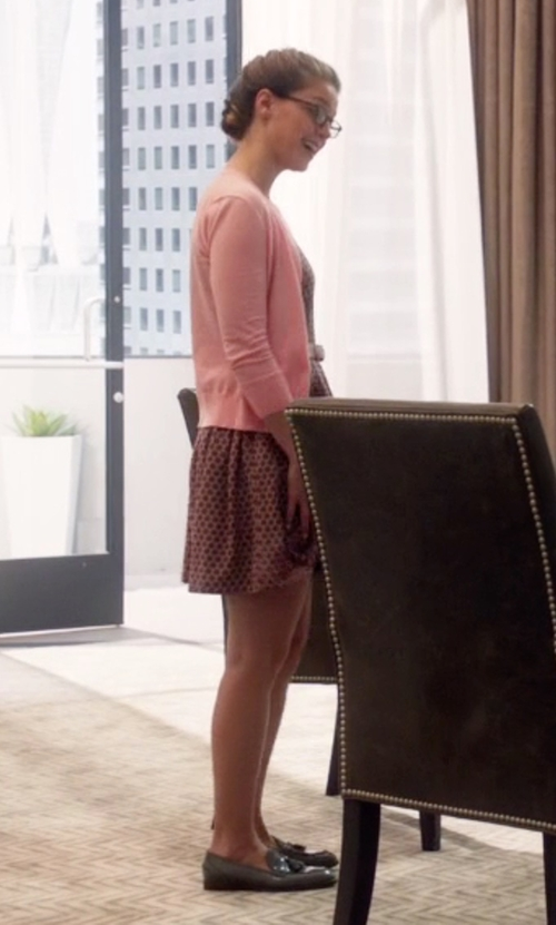 Melissa Benoist with J. Crew Biella Tassel Loafers in Supergirl
