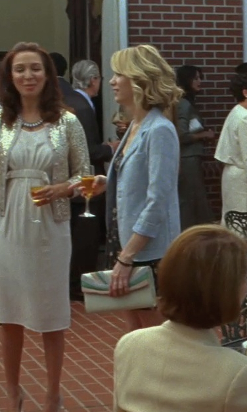 Kristen Wiig with Tory Burch Diana Slim Saffiano Clutch Bag in Bridesmaids