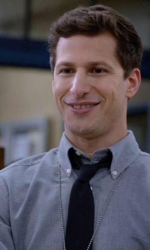 Andy Samberg with Tommy Hilfiger Chambray Shirt in Brooklyn Nine-Nine