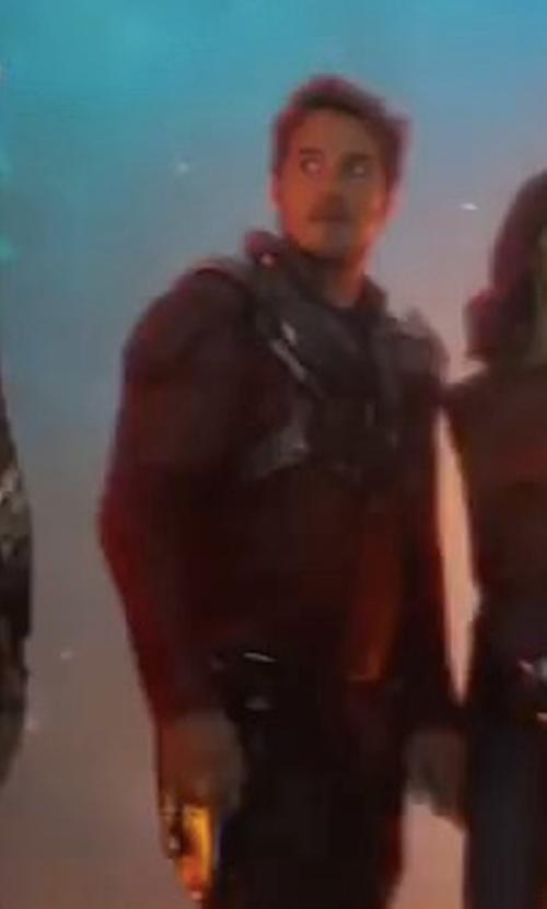 Chris Pratt with Judianna Makovsky (Costume Designer) Custom Made Star Lord's Leather Jacket in Guardians of the Galaxy Vol. 2