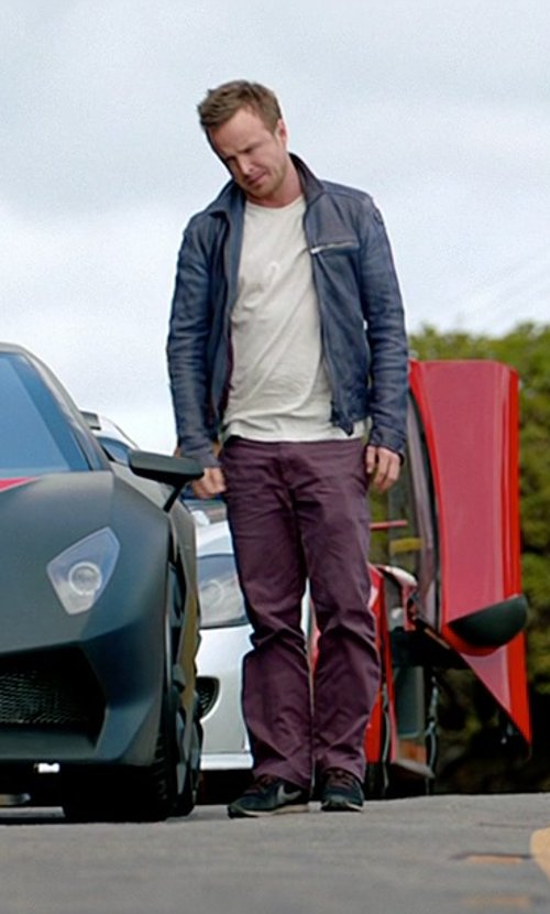 Aaron Paul with Marc By Marc Jacobs Denim Pants Collection: Fall-winter in Need for Speed