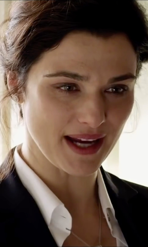 Rachel Weisz with ATM Anthony Thomas Melillo BF Dress Shirt in Youth