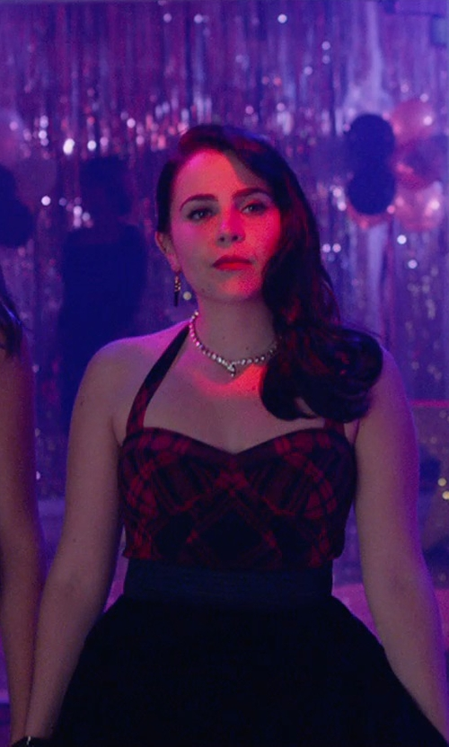 Mae Whitman with As U Wish  Sequined Tulle A-Line Dress in The DUFF