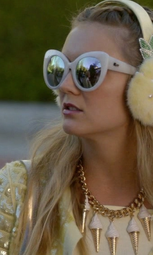 Billie Lourd with H&M Chunky Ice Cream Cone Necklace in Scream Queens