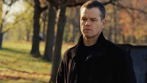 Matt Damon with Vince Lambskin-Trim Canvas Jacket in Jason Bourne