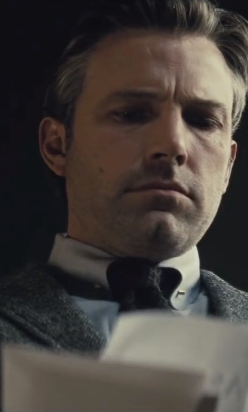 Ben Affleck with Gucci Custom Made Gray Dress Shirt in Batman v Superman: Dawn of Justice